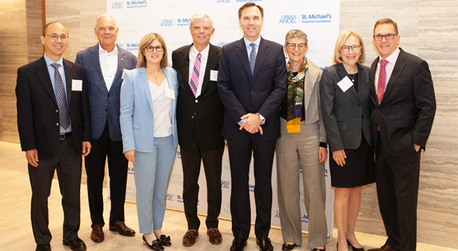 Scotiabank hosts Breakfast of Influencers to support St. Michael's MAP Centre for Urban Health Solutions and combat the crushing effects of poverty on health.