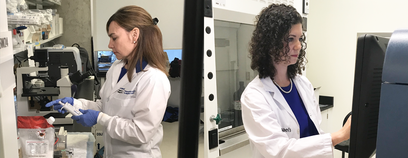 Dr. Shannon Dunn (left) and Dr. Dalia Rotstein (right) are advancing research at the BARLO MS Centre.